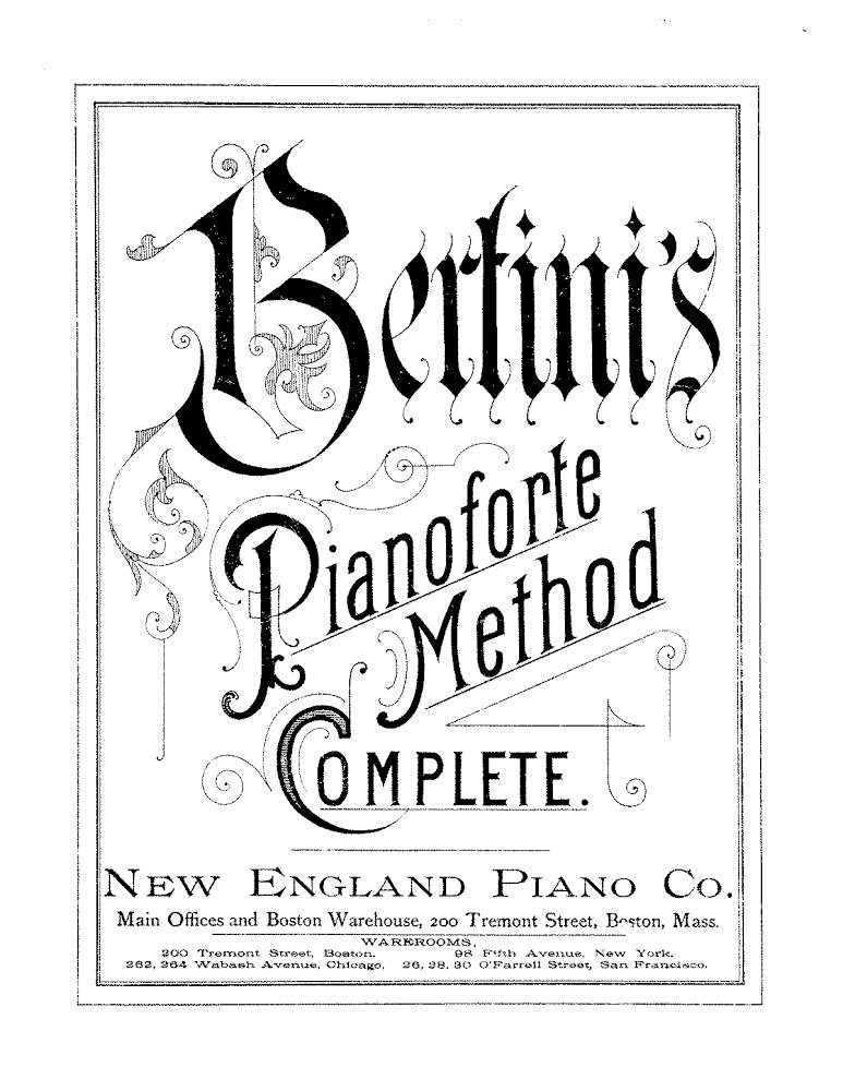 Piano Method Books a Brief History