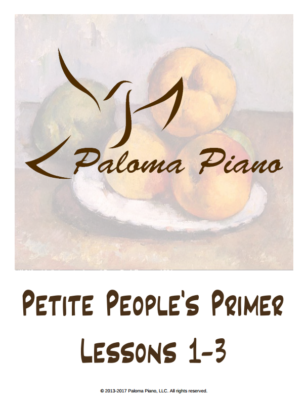 Petite People's Primer - Lessons 1-3 - Cover