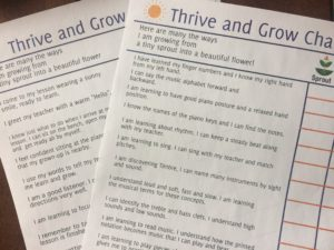 Paloma Piano - Thrive and Grow Preschool Chart - Image