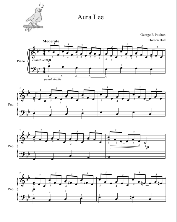Paloma Piano - Aura Lee - Page 1