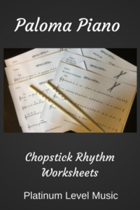 Paloma Piano - Chopstick Rhythm Worksheets - Cover