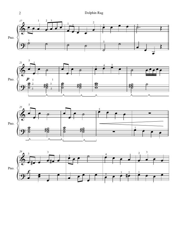 Paloma Piano - Dolphin Rag - Page 2