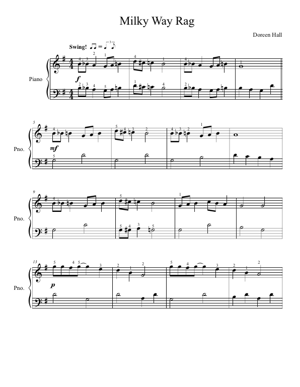 Paloma Piano - Milky Way Rag - Page 1