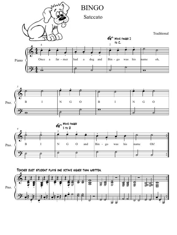 Paloma Piano - Bingo - Page 1