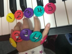 Paloma Piano - Button Fingering Worksheets - Image