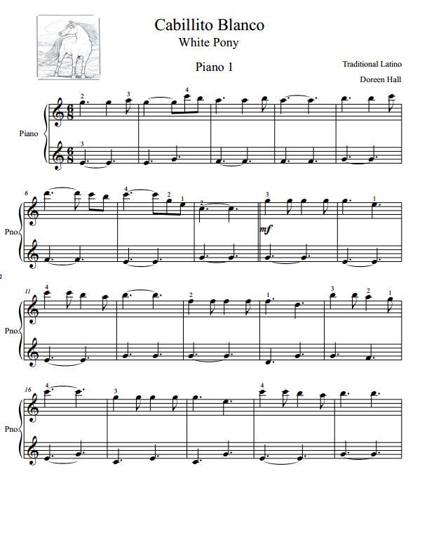 Paloma Piano - Caballito Blanco - Page 1