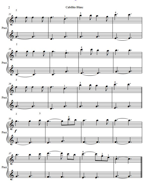 Paloma Piano - Caballito Blanco - Page 2