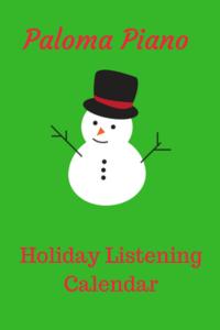 Paloma Piano - Holiday Listening Calendar 2017 - Cover