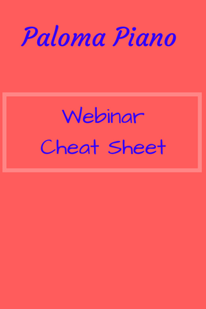 Webinar Cheat Sheet