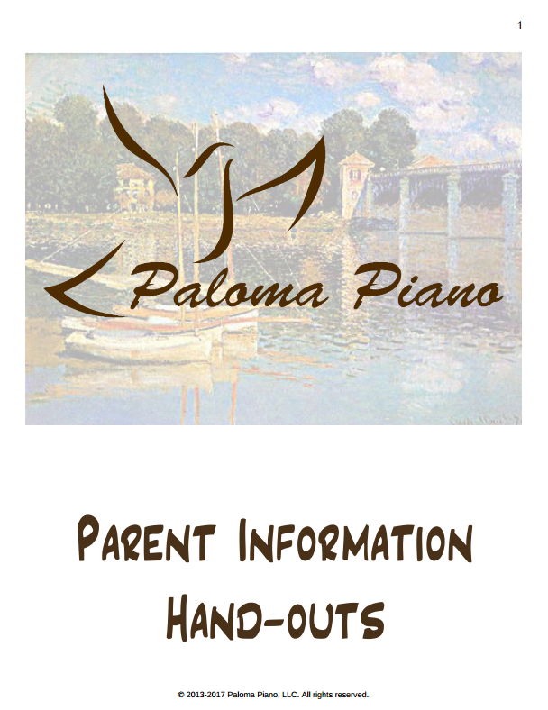 Parent Information Handouts - Cover