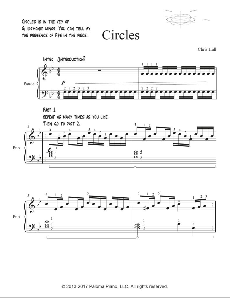 Paloma Piano - Circles - Page 1