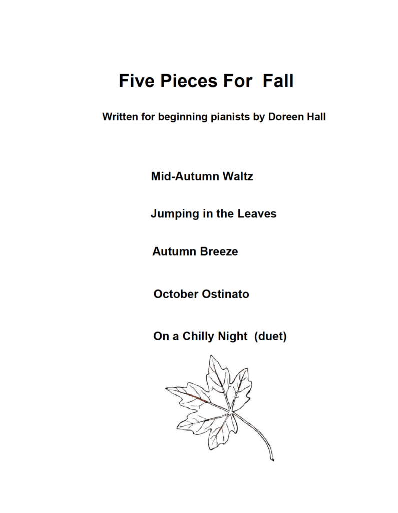 Paloma Piano - Five Pieces For Fall - Cover