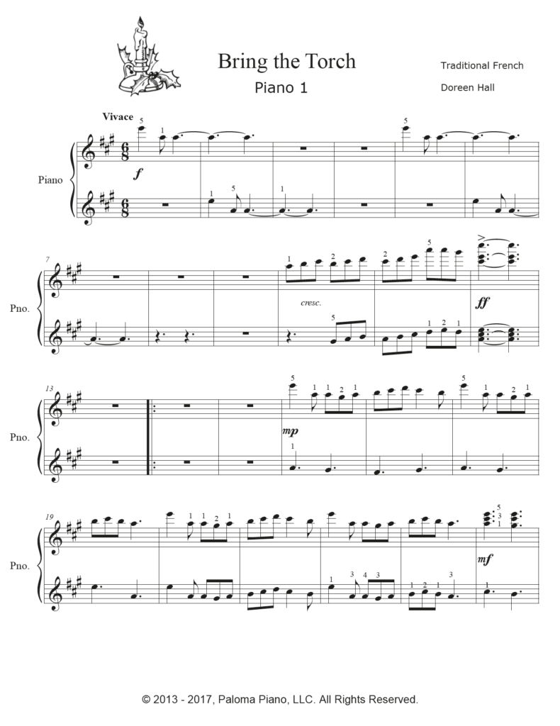 Paloma Piano - Bring The Torch - Page 1