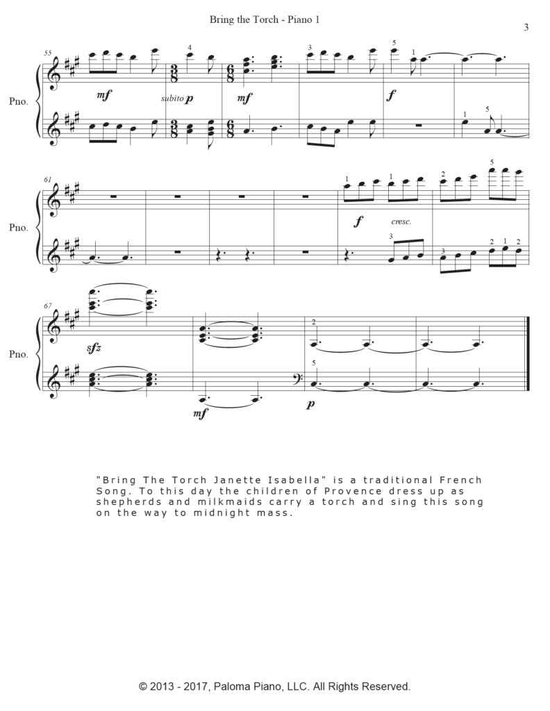 Paloma Piano - Bring The Torch - Page 3