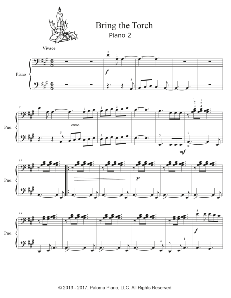 Paloma Piano - Bring The Torch - Page 4