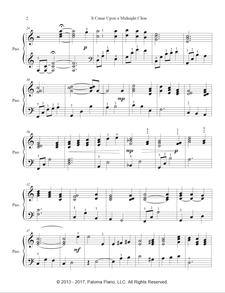 Paloma Piano - It Came Upon A Midnight Clear - Page 2