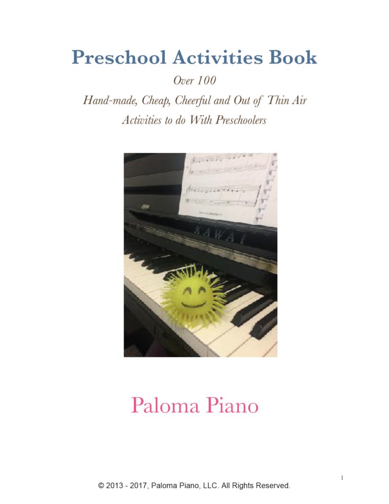 Paloma Piano - Preschool Activities Book - Cover