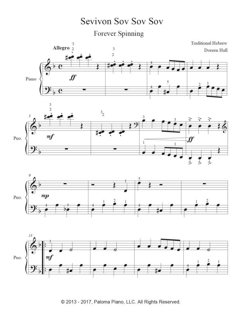 Paloma Piano - Sevivon - Page 1