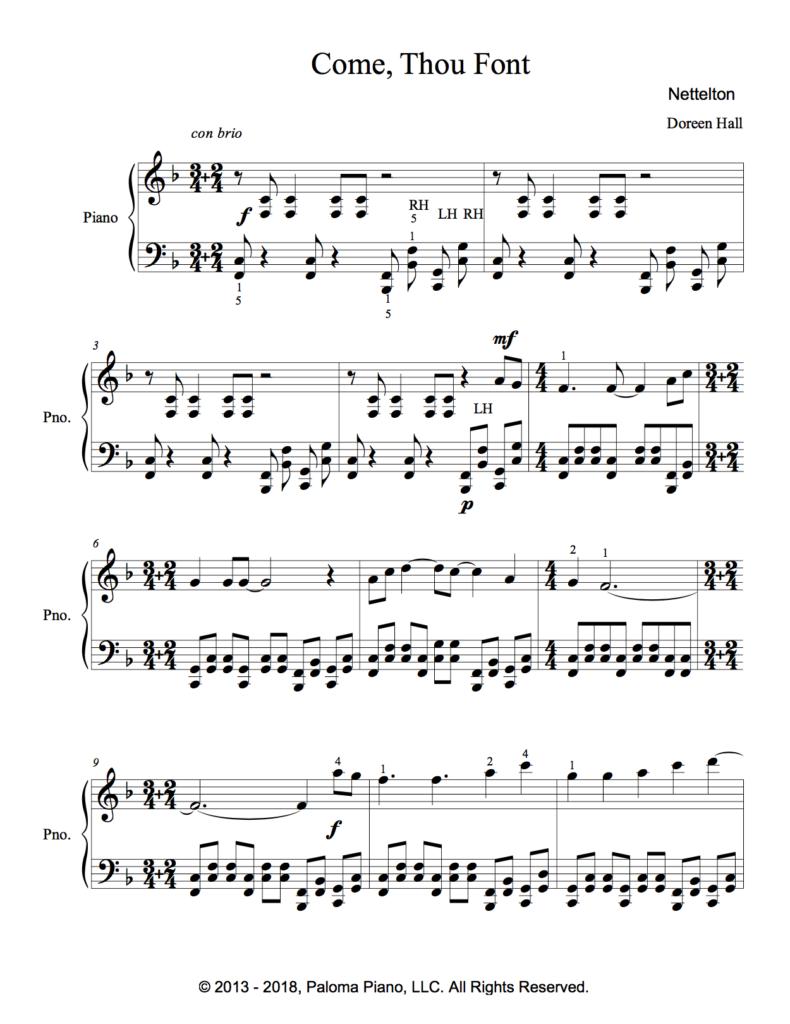 Paloma Piano - Come Thou Font - Page 1