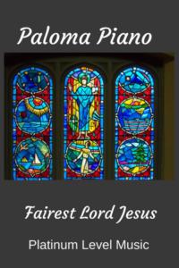 Image of Fairest Lord Jesus Piano Arrangement