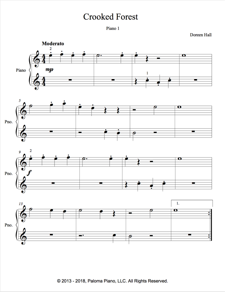 Paloma Piano - Crooked Forest - Page 1