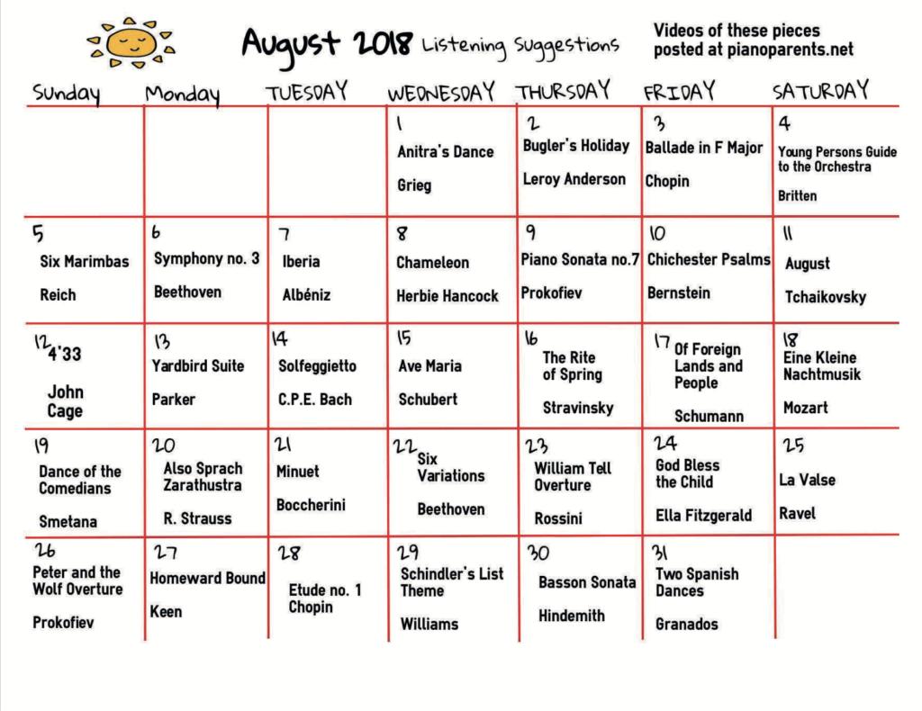 Paloma Piano - 2018 Summer Listening Calendar - Page 3