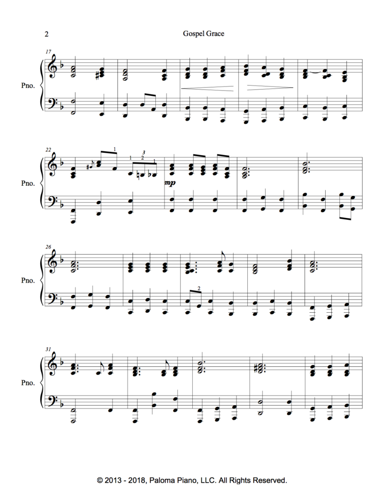 Paloma Piano - Gospel Grace - Page 2