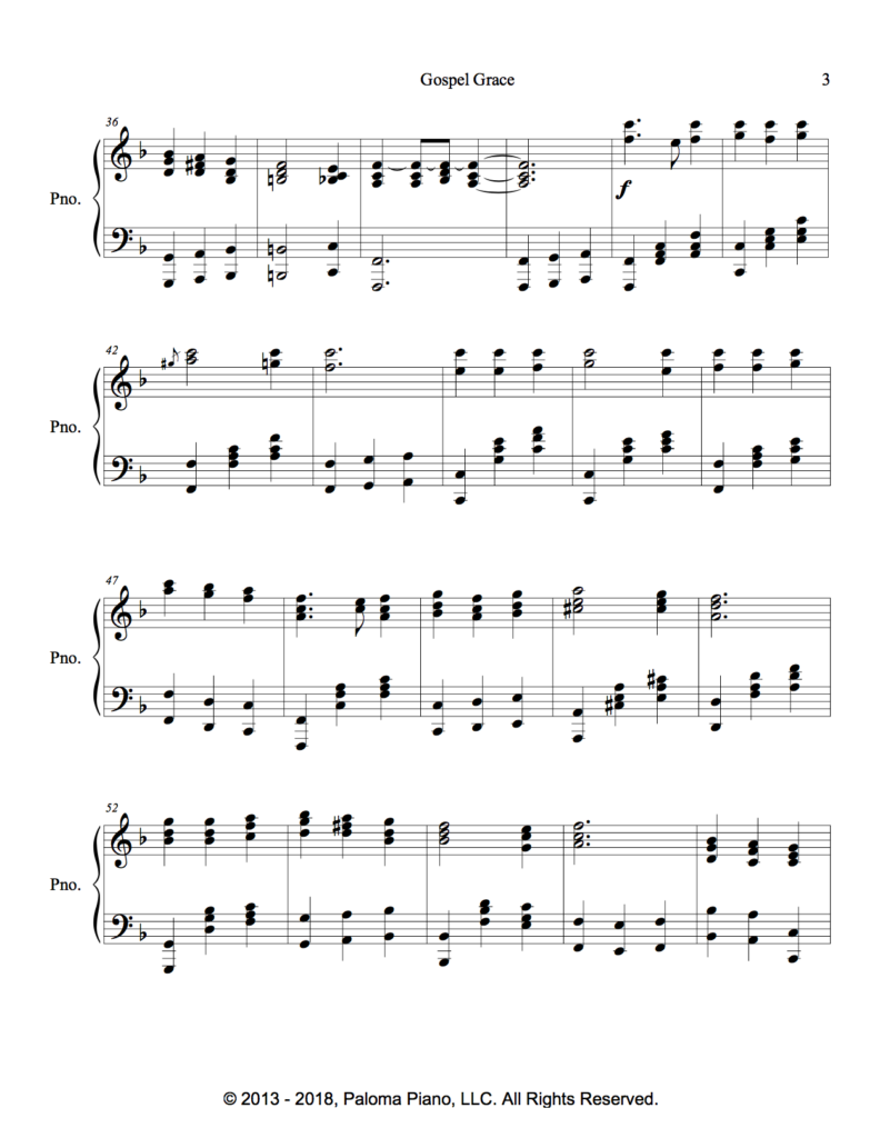 Paloma Piano - Gospel Grace - Page 3