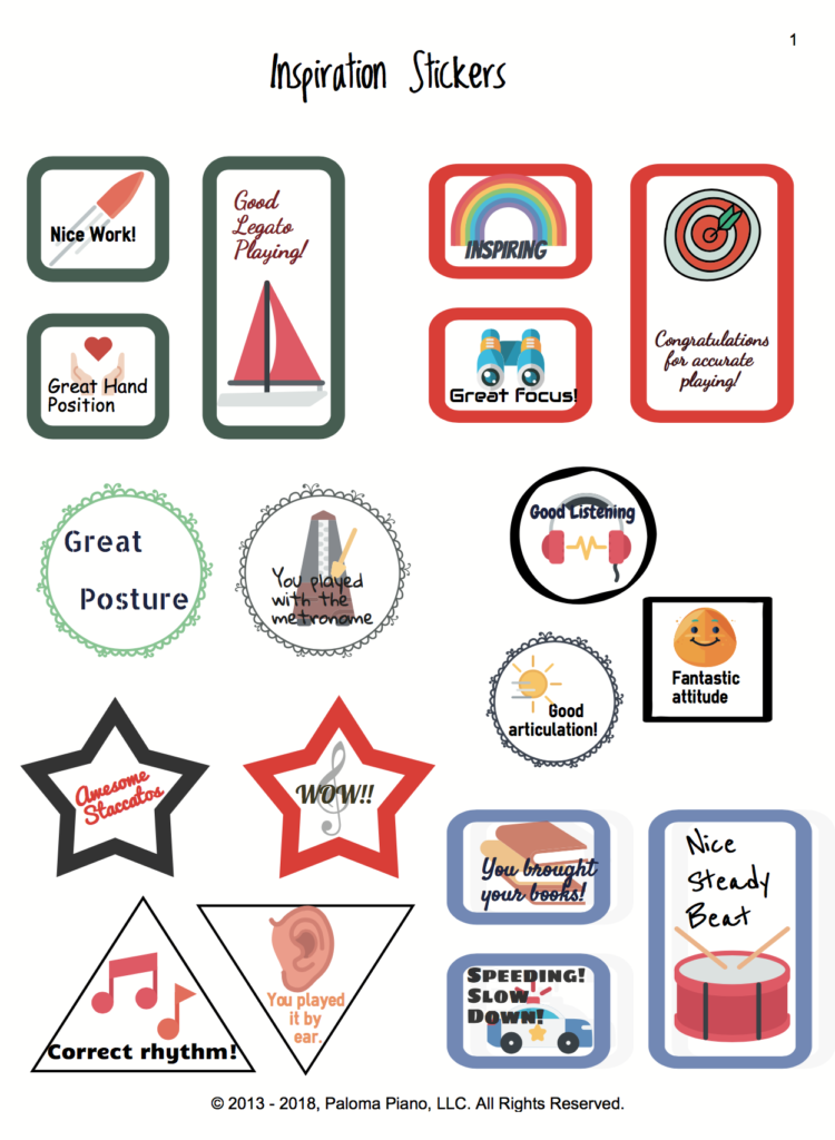Paloma Piano  - Inspiration Stickers - Page 1