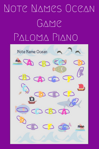 Paloma Piano - Ocean Note Game - Cover