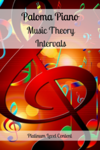 Paloma Piano - Music Theory - Intervals