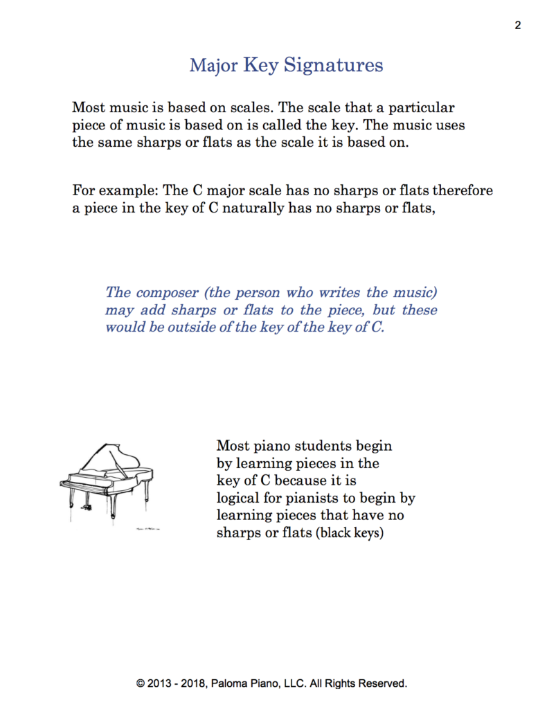 Paloma Piano - Music Theory - Major Key Signatures - Page 2