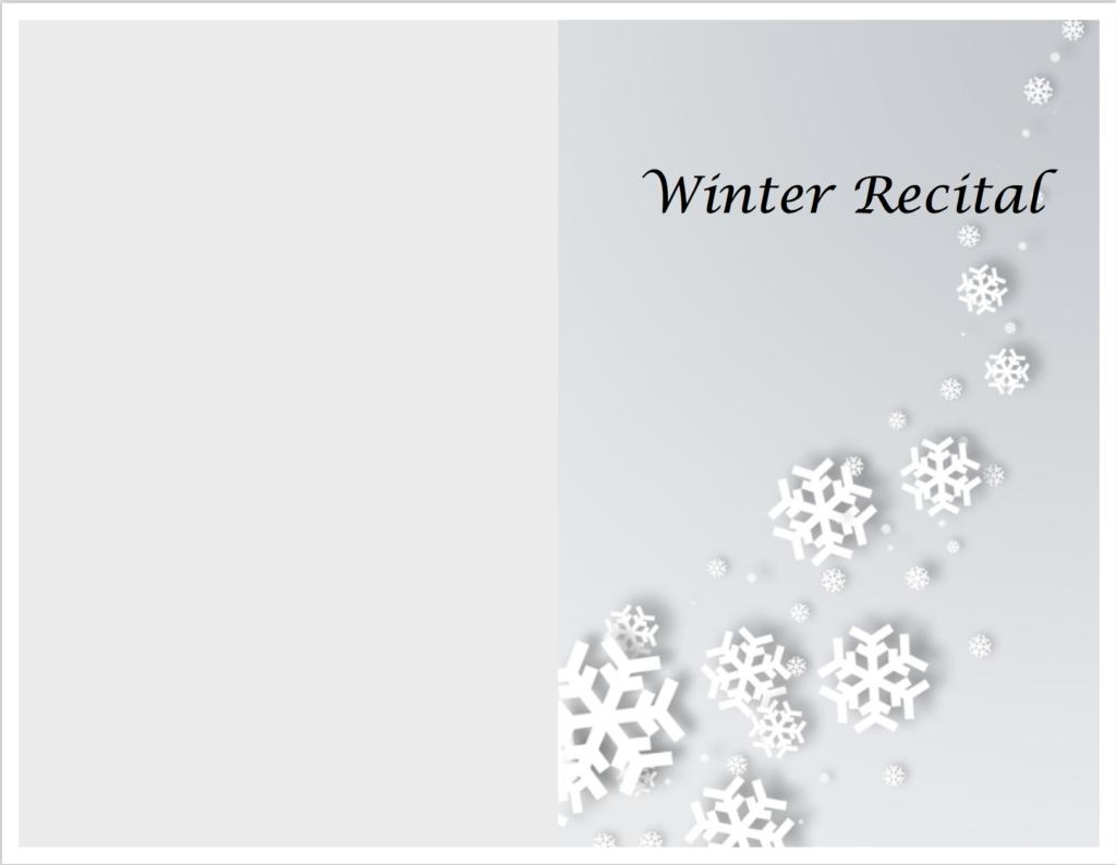 Paloma Piano - Winter Recital - Program Front & Back