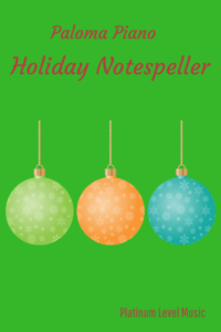 Paloma Piano - Holiday Notespeller - Cover