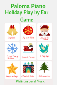 Play By Ear Holiday Card Game
