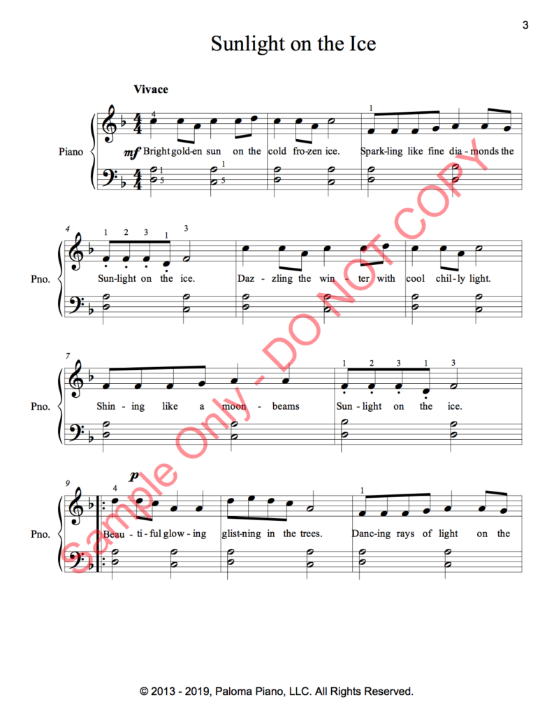 Paloma Piano - Two Songs for Winter - Page 3
