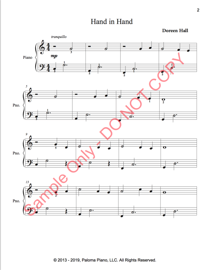 Paloma Piano - Three Easy Canons - Page 2