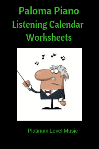 2019 Summer Listening Calendar Worksheets