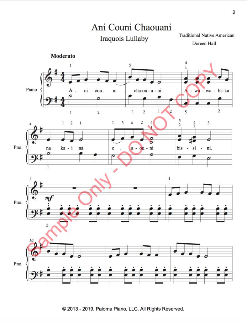 Paloma Piano - Ani Couni Chaouini - Page 1