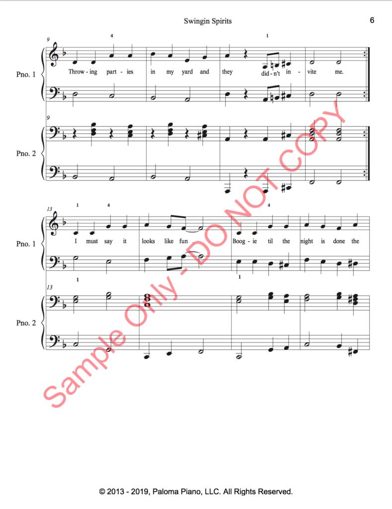 Paloma Piano - Swinging Spirits - Page 6